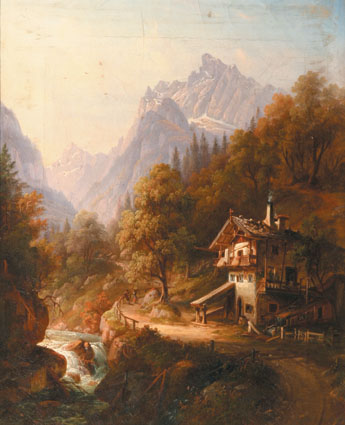 Romantic prospects from the Bavarian Mountains   -   A couple