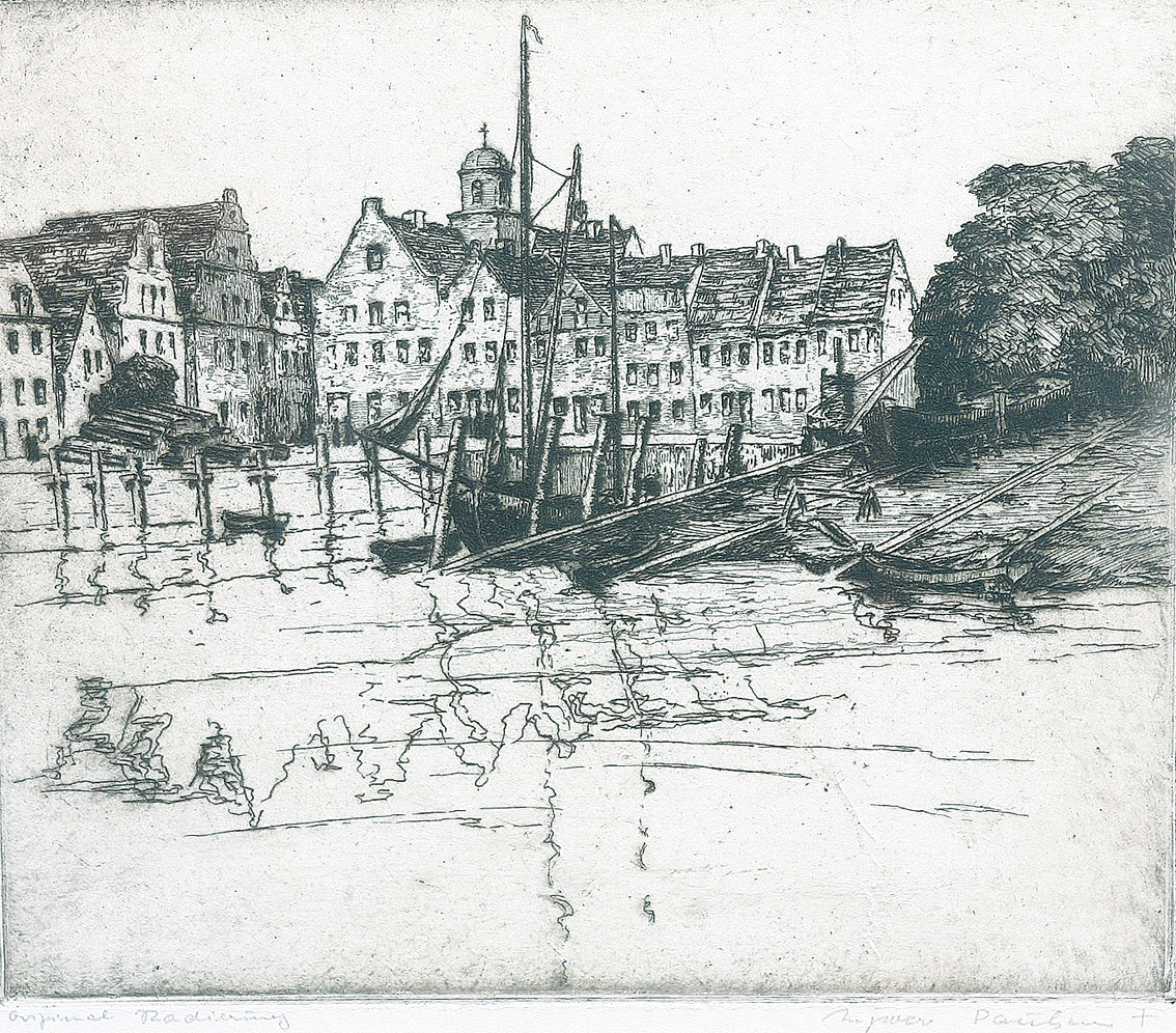 """Husum"" and ""Schobüll""   -   2 etchings"