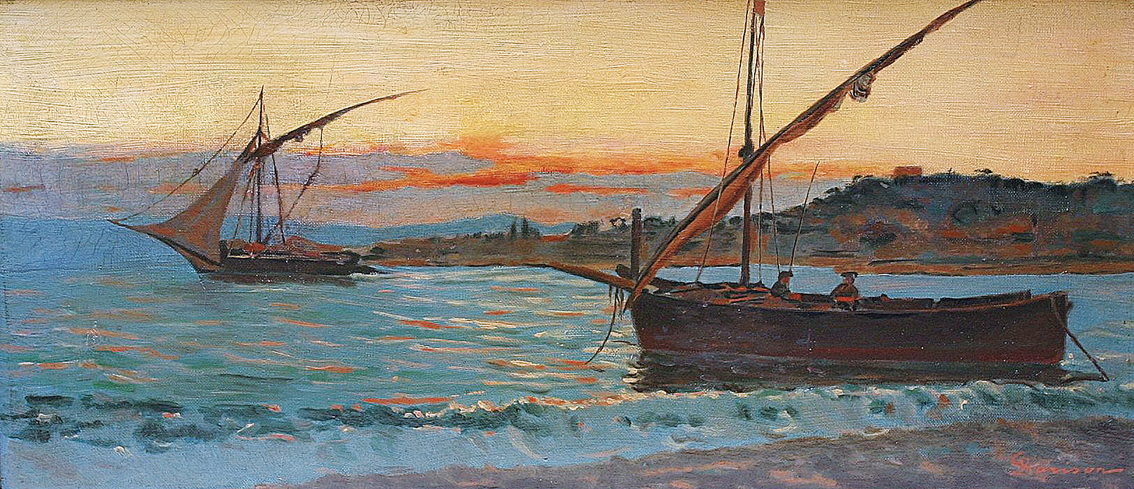 """Fishing boats in the Golf of Pozzuoli"""