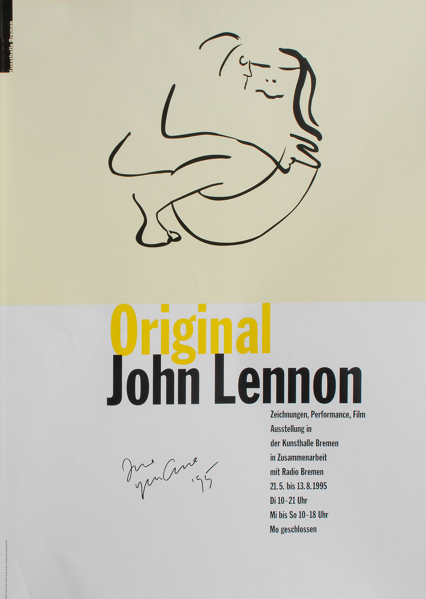 Hand-signed: 'Original John Lennon' in the Kunsthalle Bremen (1995)