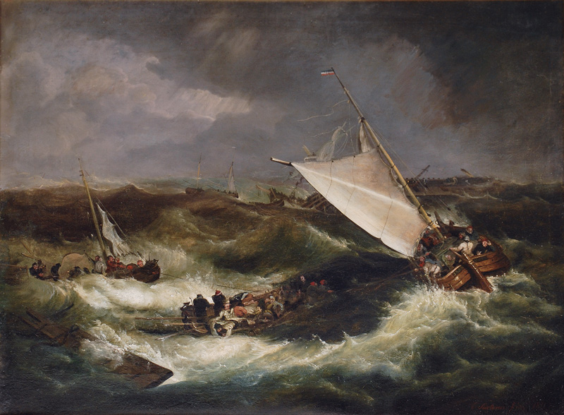 Boats in rough Sea