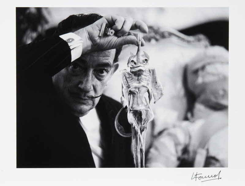 Salvador Dalí with Fish