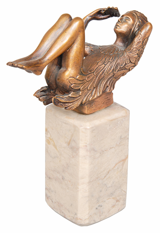 "A bronze figure ""Papageno"" of the series ""Les beaux arts"""