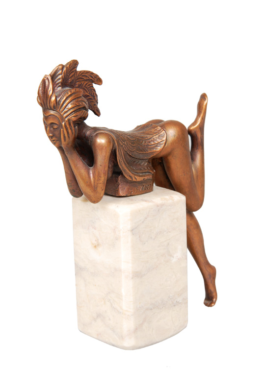 "A bronze figure ""Papagena"" of the series  ""Les beaux arts"""