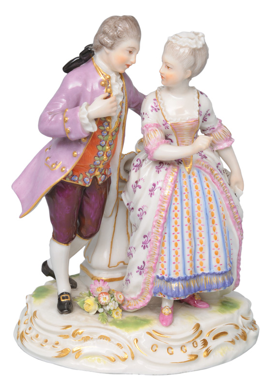 "A figurine group ""Arguing couple"""