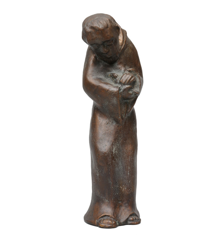 "A bronze figure ""Francis of Assisi"""