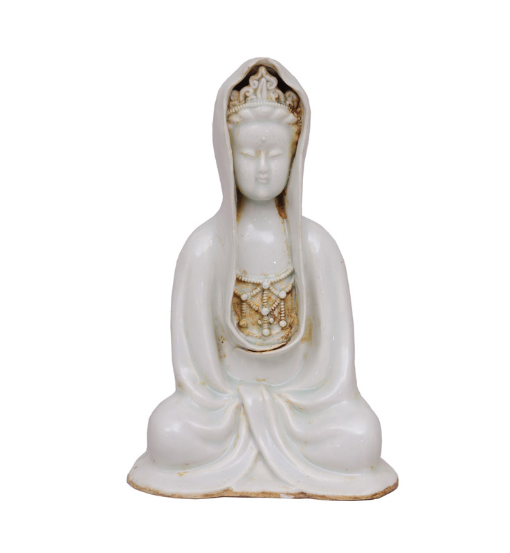 "A Qingbai seated figure ""Guanyin"""
