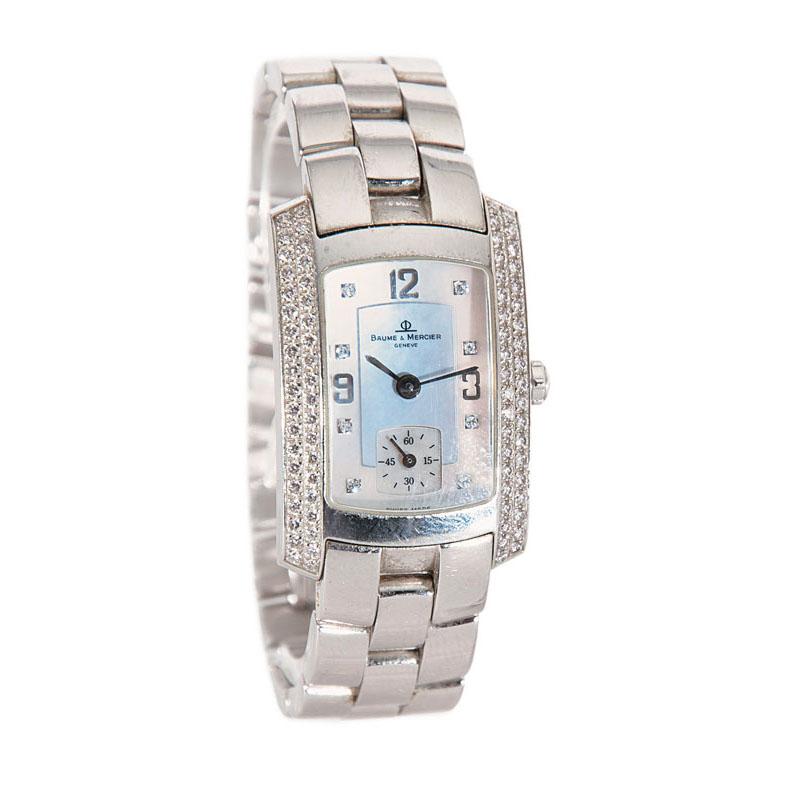 Damen-Armbanduhr mit Brillant-Besatz