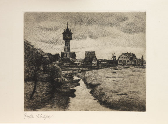 """A view of Finkenwerder near Hamburg"""