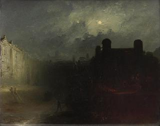 Harbours in moonlight   -   a pair