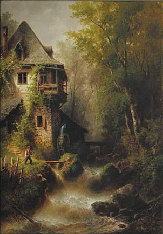 A watermill in the woodlands