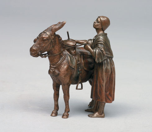 A bronze figure from Vienna 'Oriental boy with donkey'