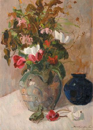 A stillife with lilacs and other flowers