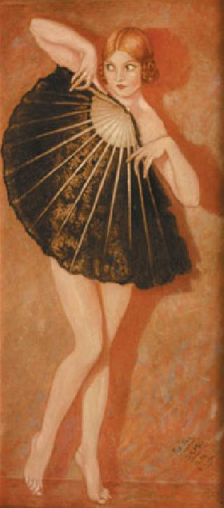 A female dancer with a fan