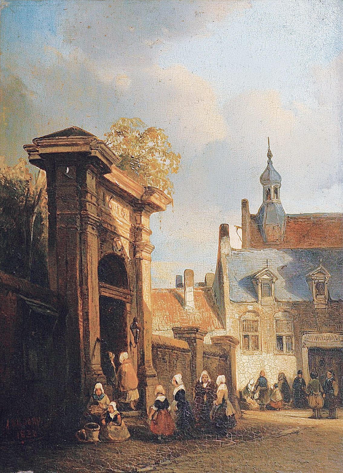 """A partial prospect of Den Haag, with figures"""