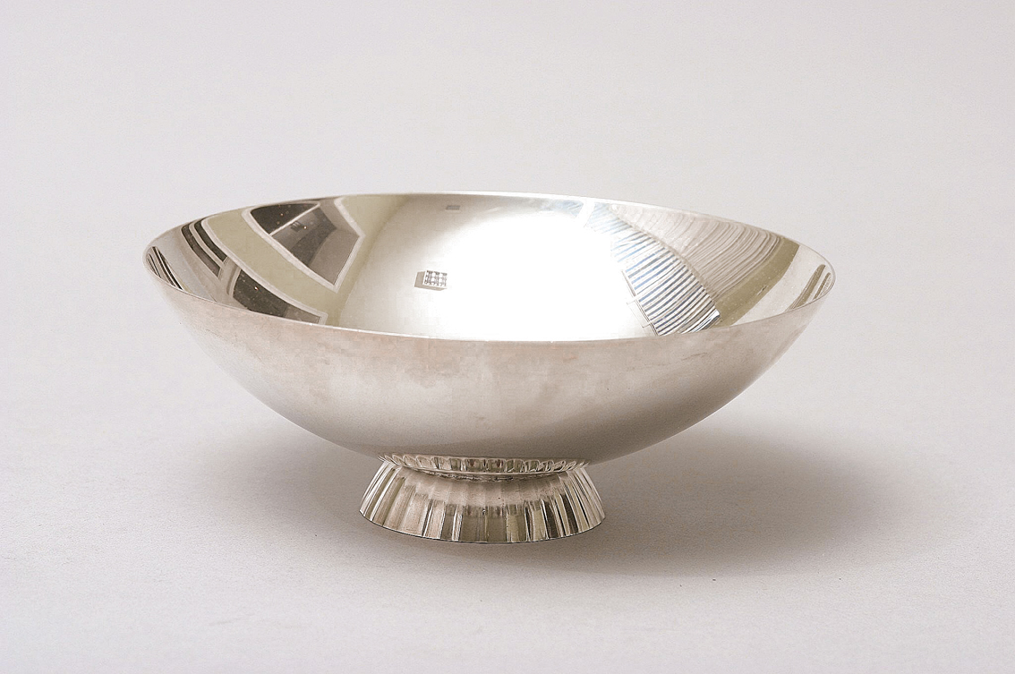 A small silver bowl by Sigward Bernadotte