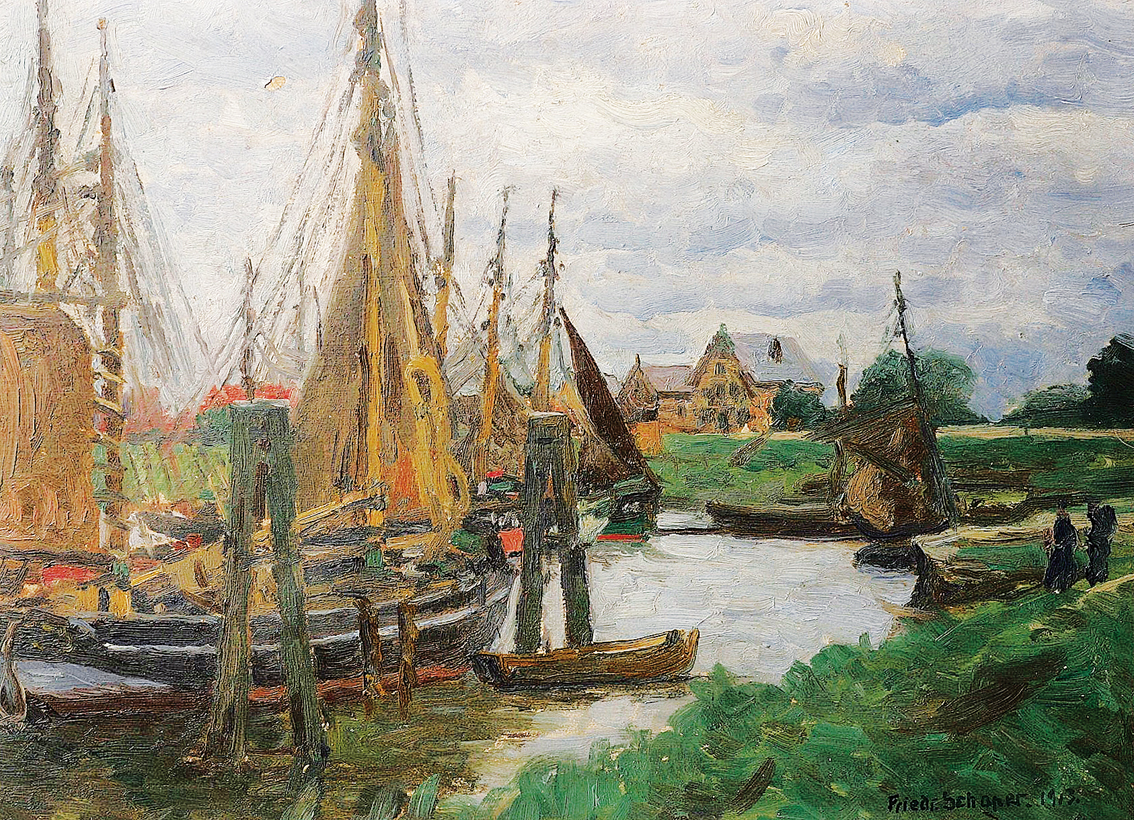 A fishing-port in the surroundings of Hamburg