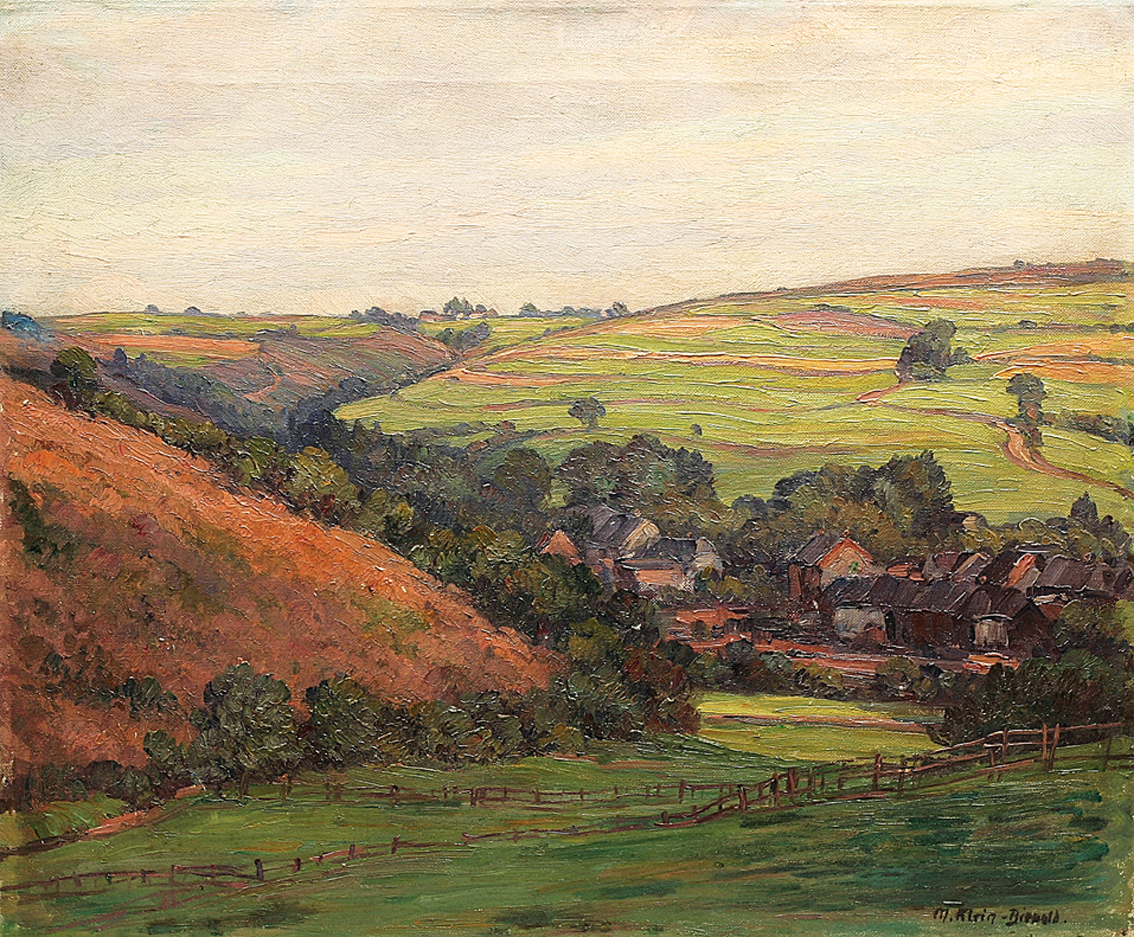 """A hilly landscape and a village in the 'Eifel"""