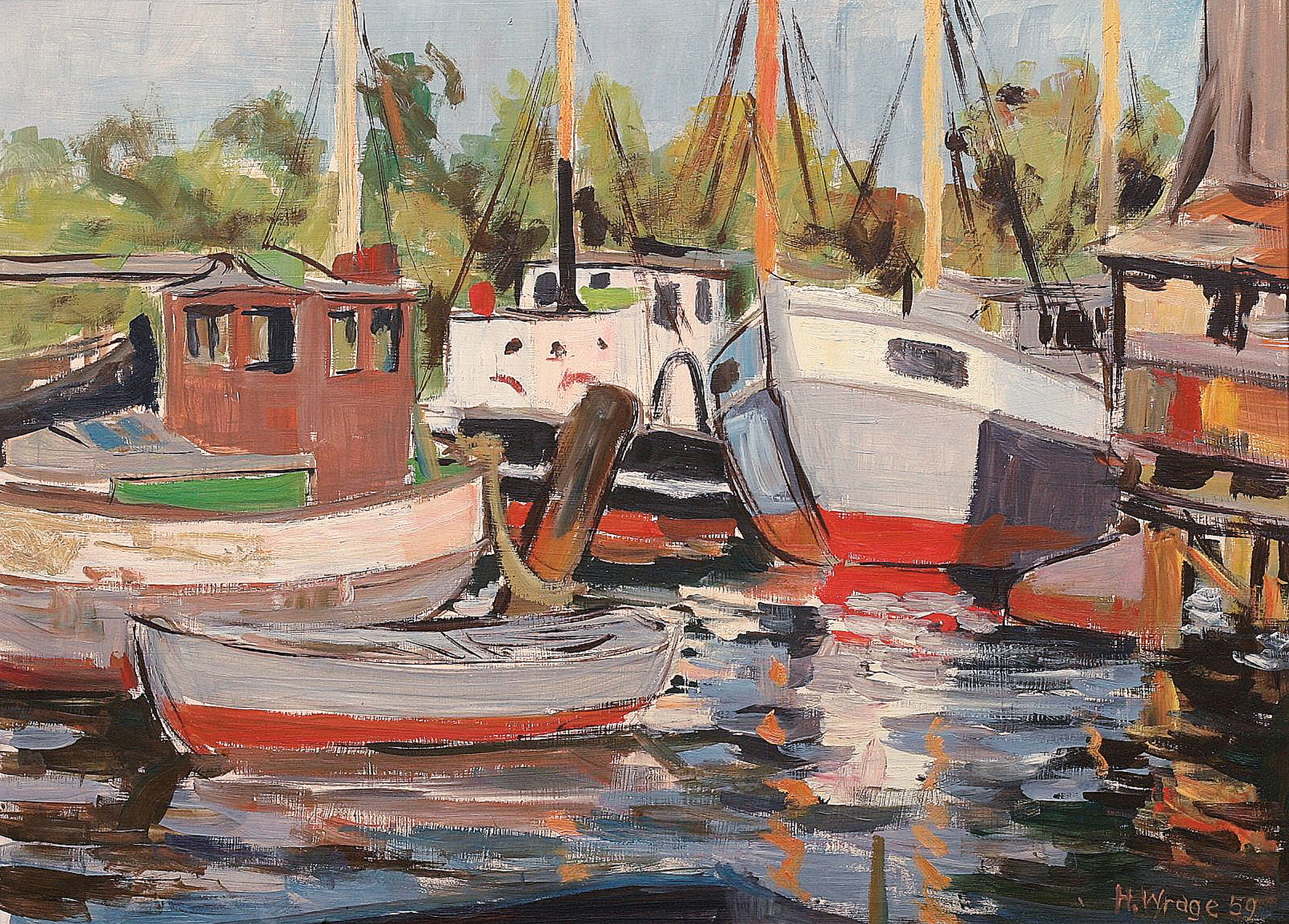 """Various boating in the harbour of Neustadt/Holstein"""