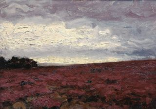 A Heath Landscape in the Evening
