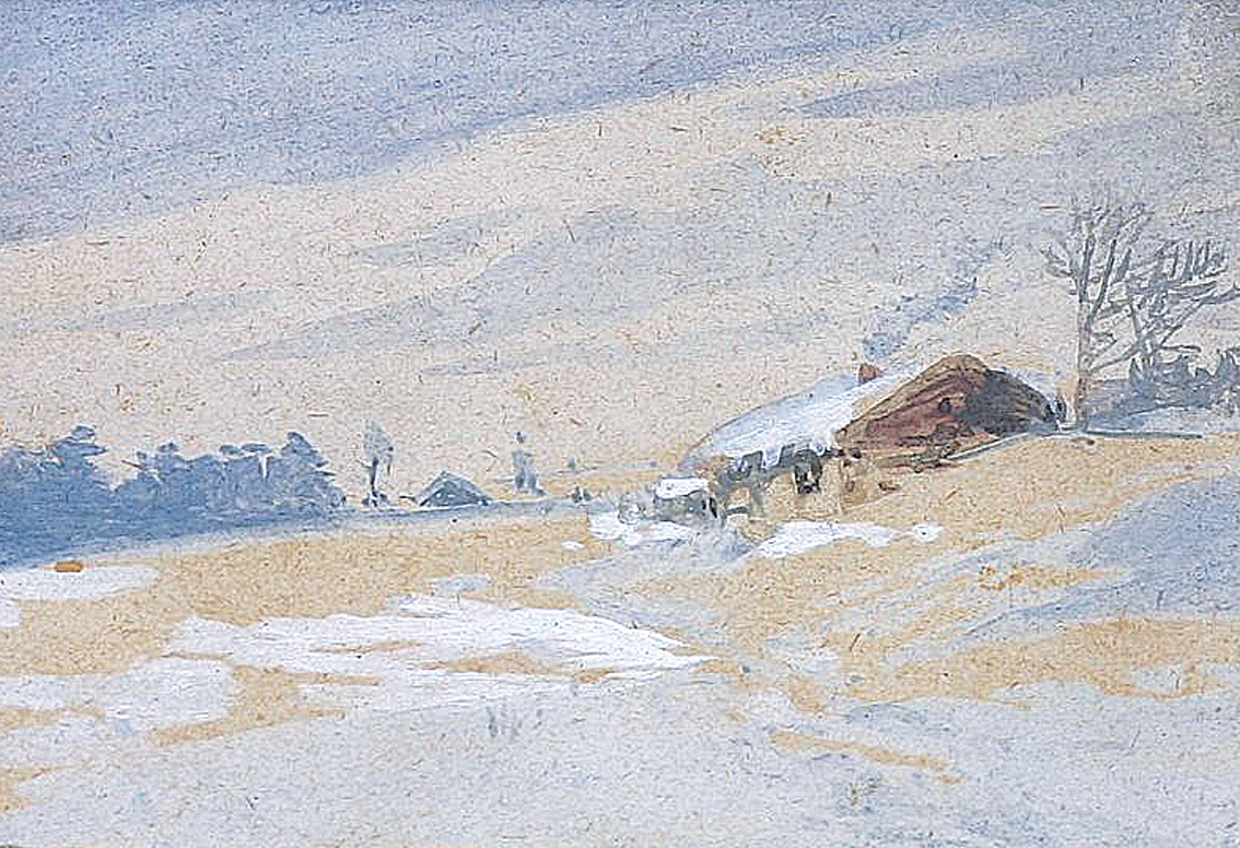 A house in the snow