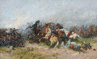 e on horseback in the Franco-Prussian War 1870/71