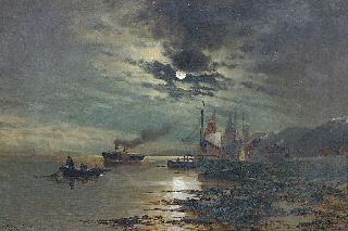 The moonlit seacoast