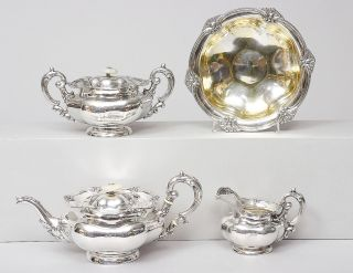 An extraodinary Russian 'Biedermeier'-tea set