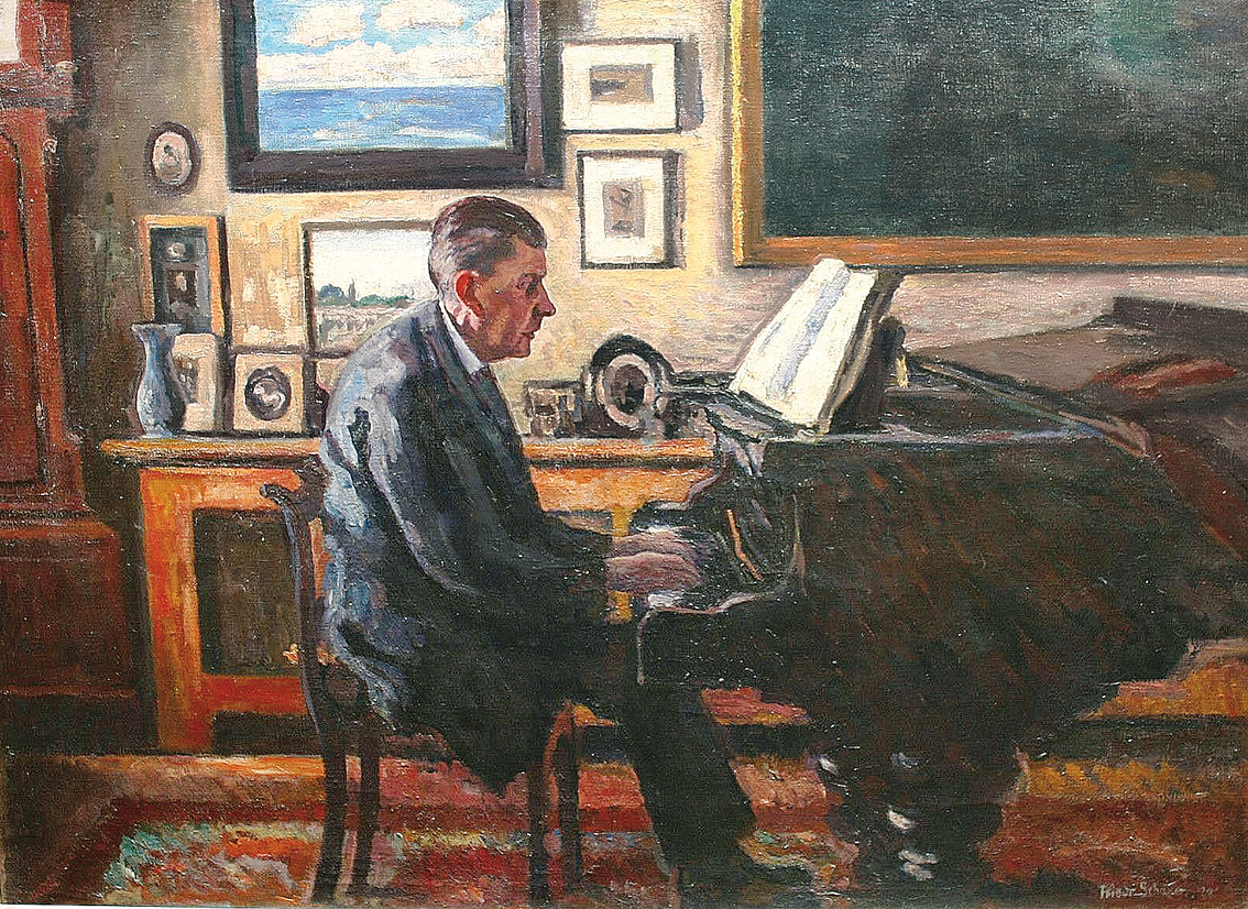 E. F. Kullberg at the piano