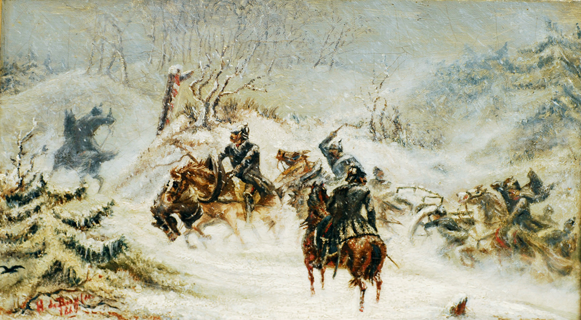 Artillery in the snow