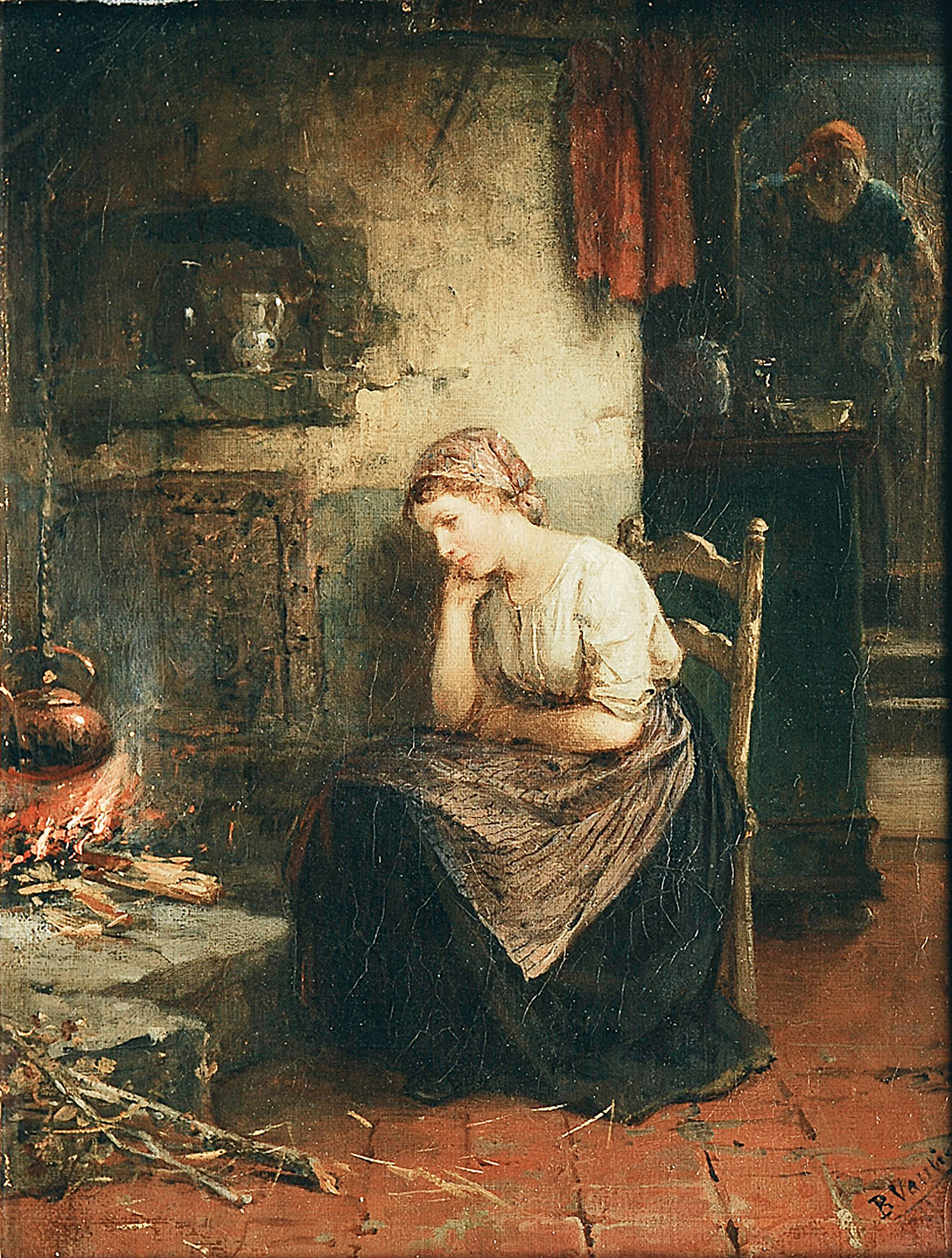 A young woman in the kitchen