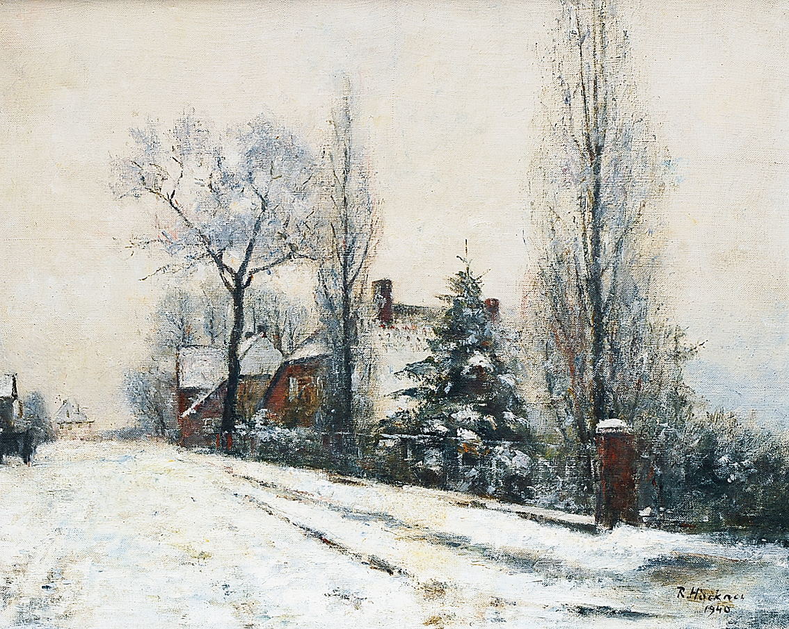 A wintry village