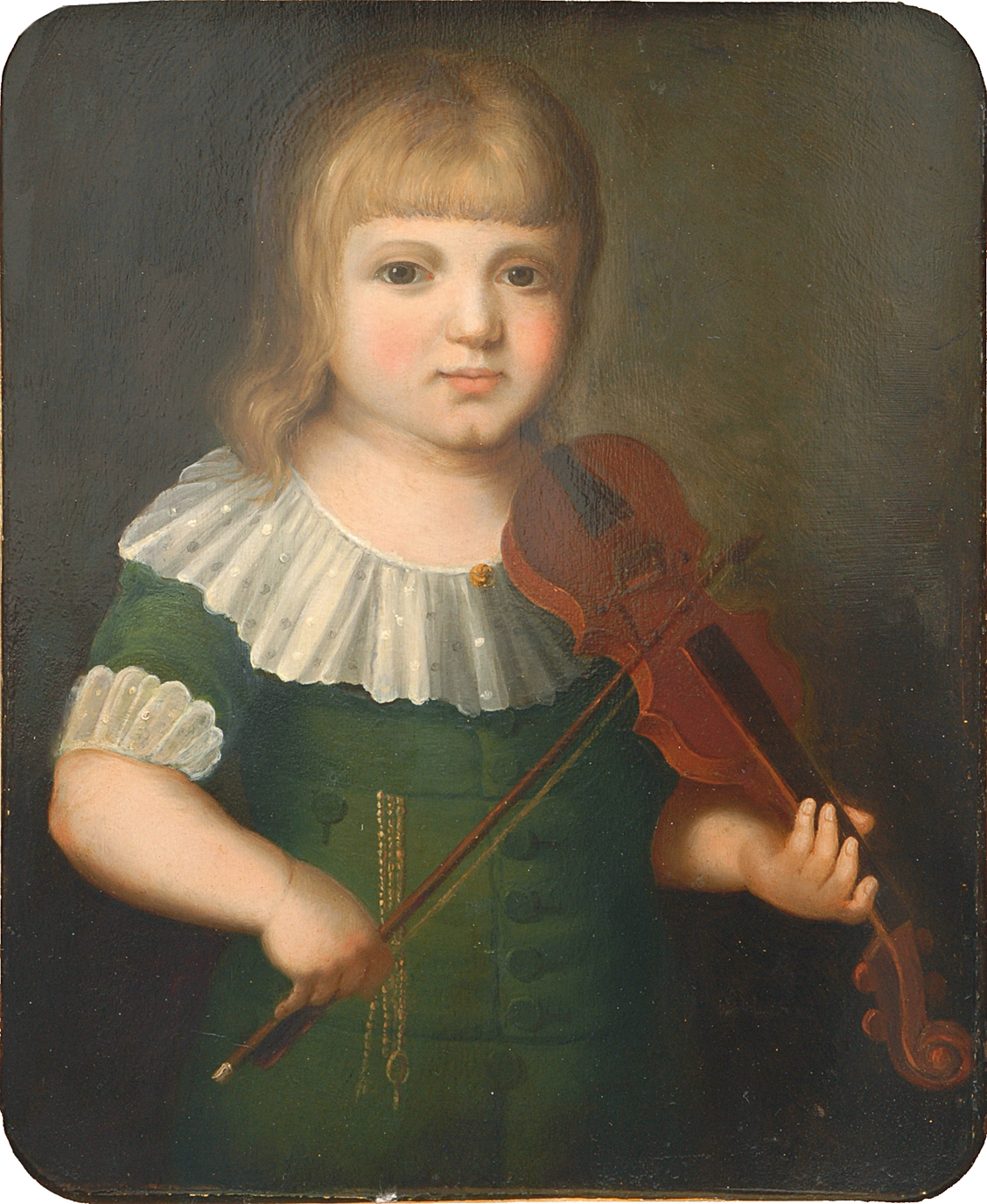 A young violin player