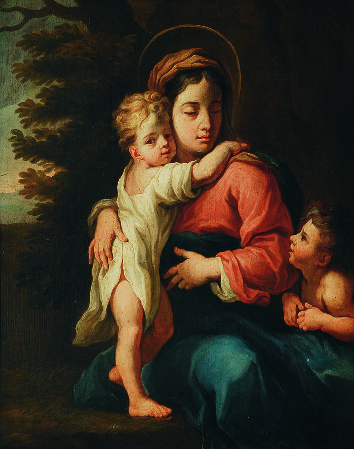 Mary with Christ and St. John