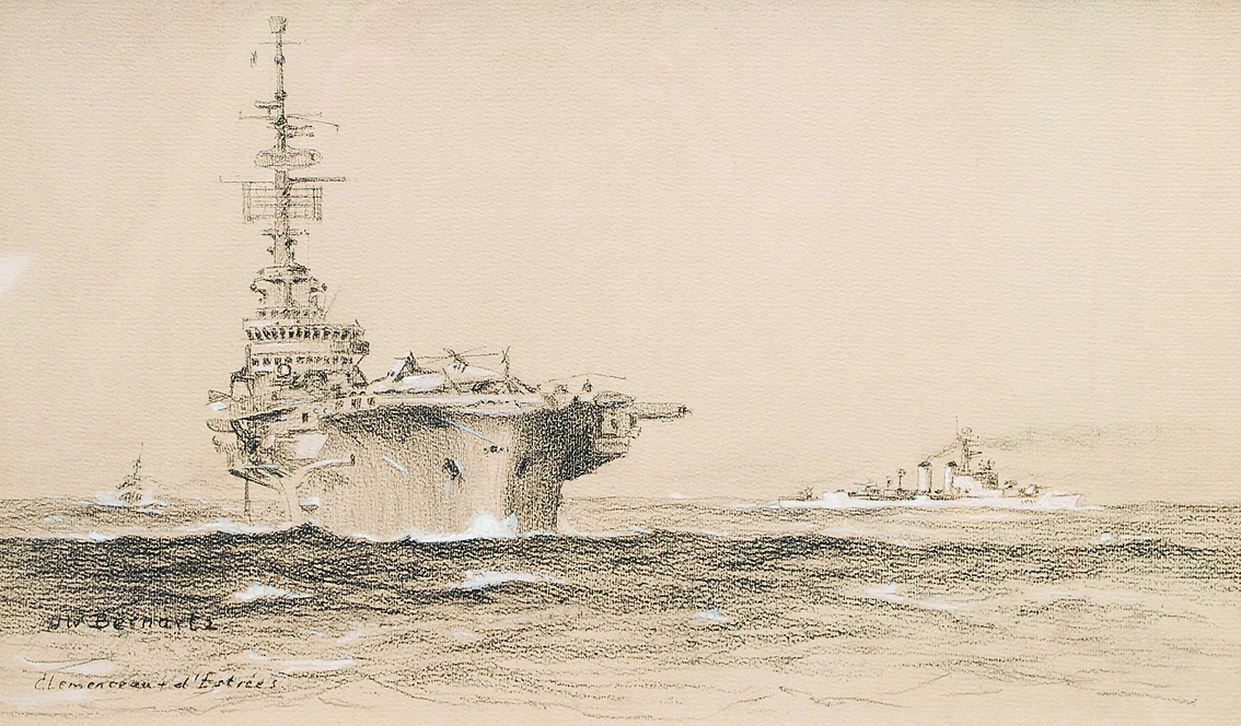 A French fleet manoeuvre with the Clemenceau