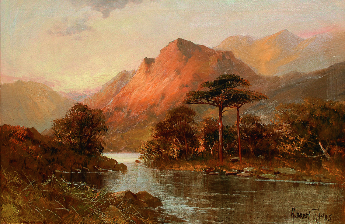 A river landscape in the highlands