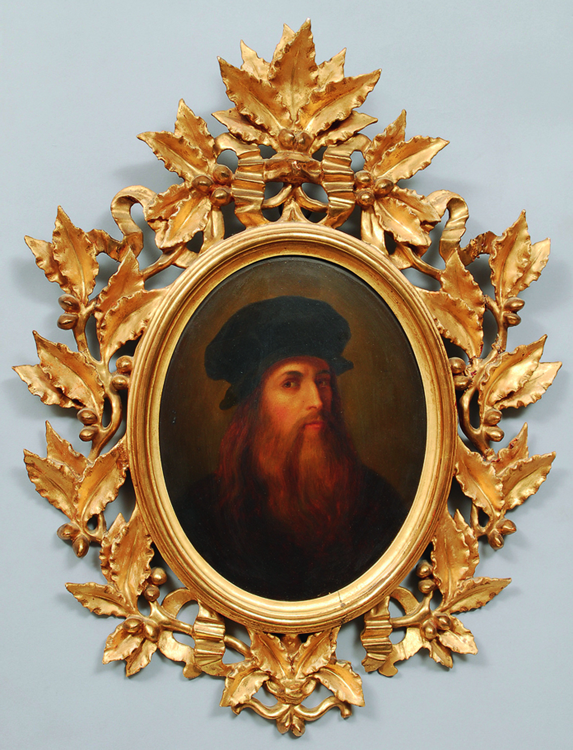 A copy after a posthum portrait of Leonardo d a Vinci