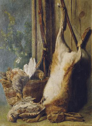 A still life with a hare