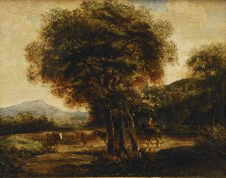 Italian Landscape with Cattle