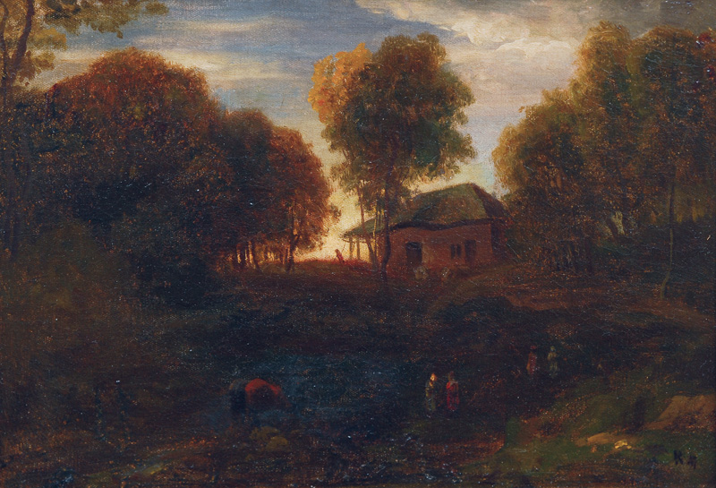 Landscape in the evening sun