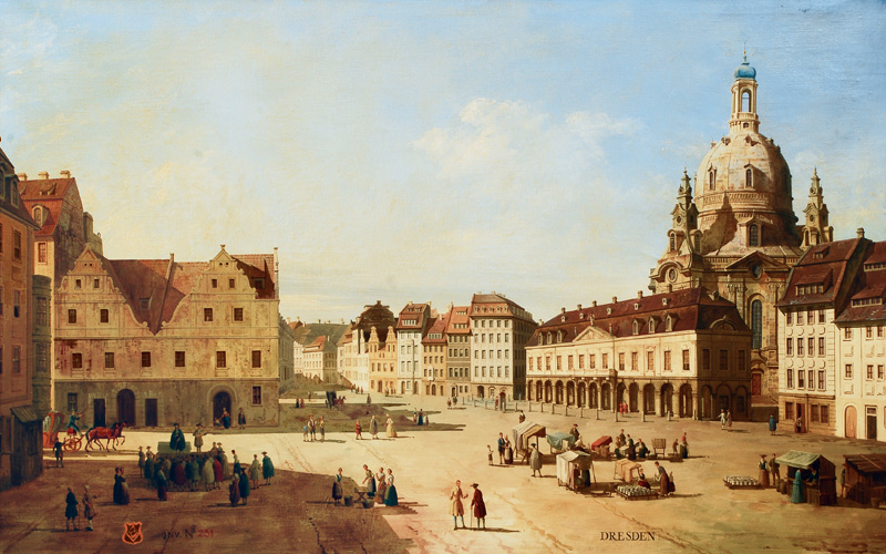 The Neumarkt in the city of Dresden