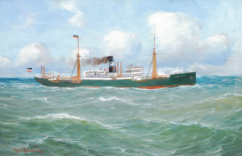 Portrait of the cargo steamer R. C. Rickmers