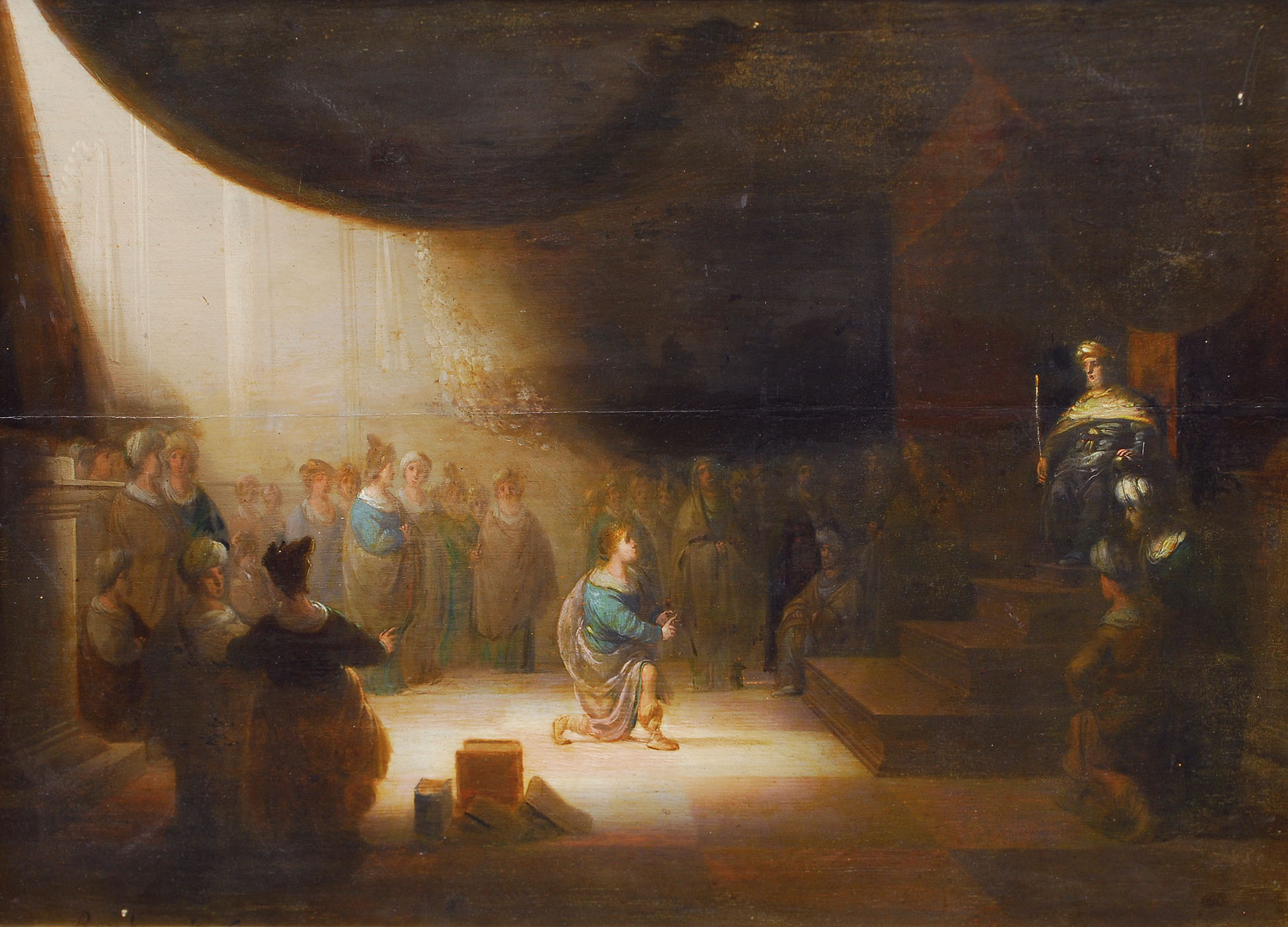 Daniel interpreting Nebukadnezar's dream