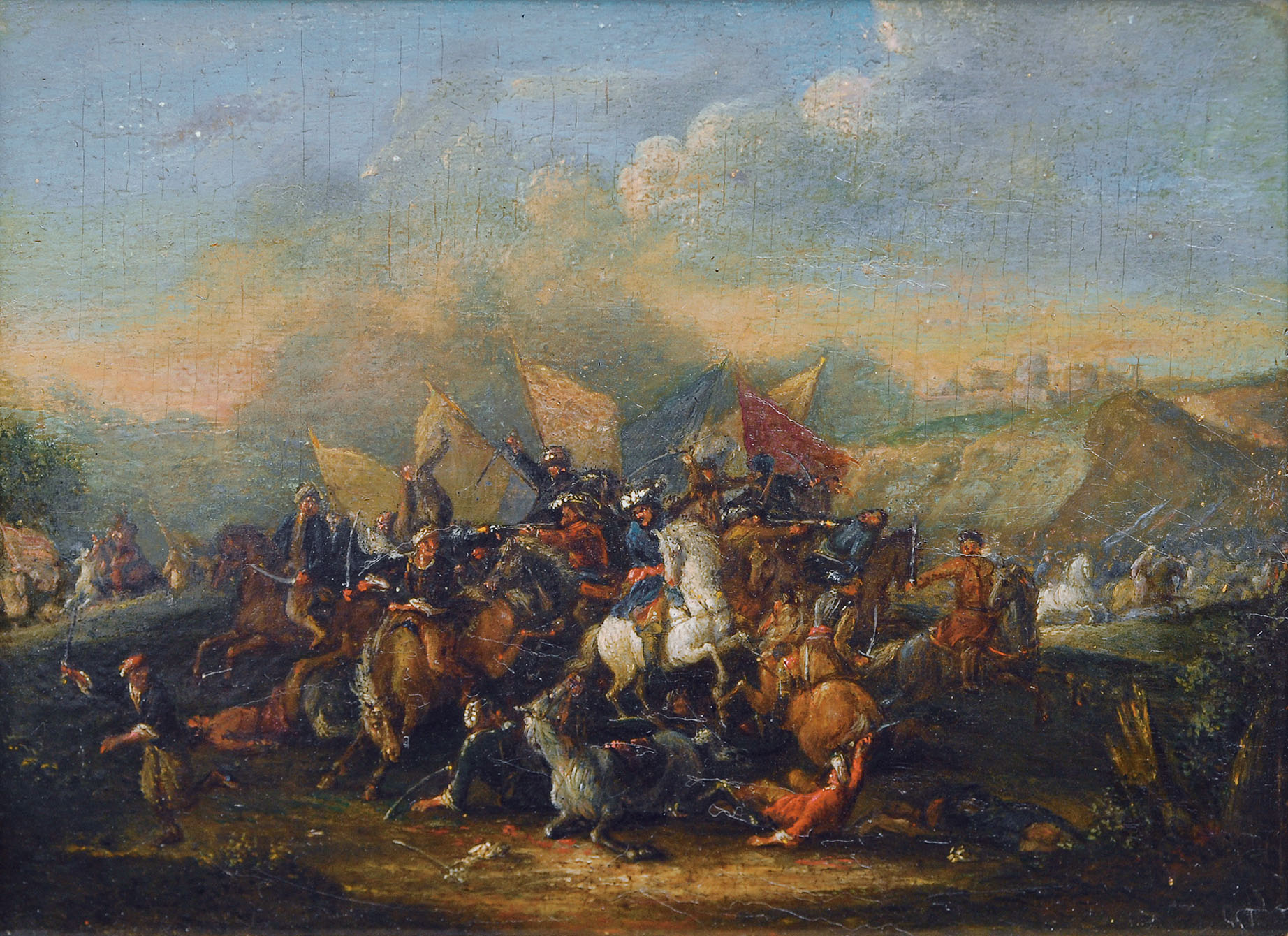 A cavalry combat between Turks and imperial soldiers