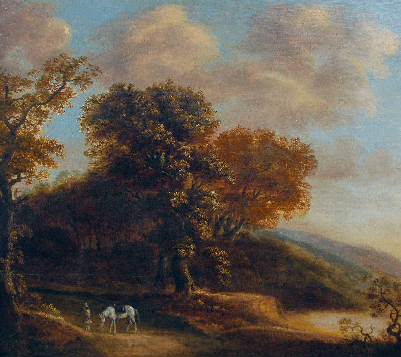 Landscape with horseman
