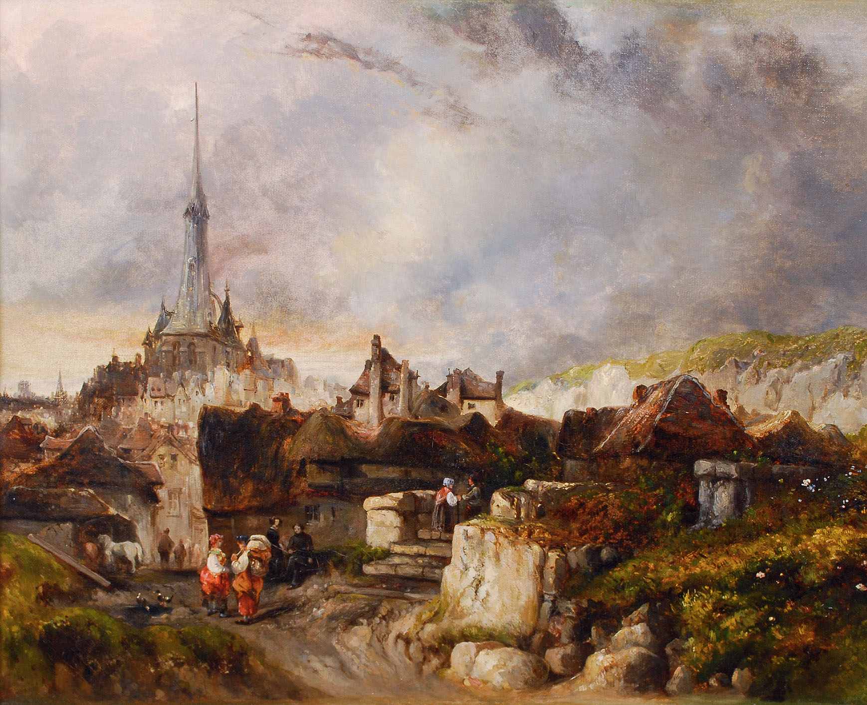 Town at the Normandy Coast