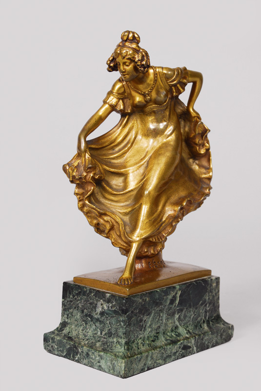 A bronze figure 'Dancer'