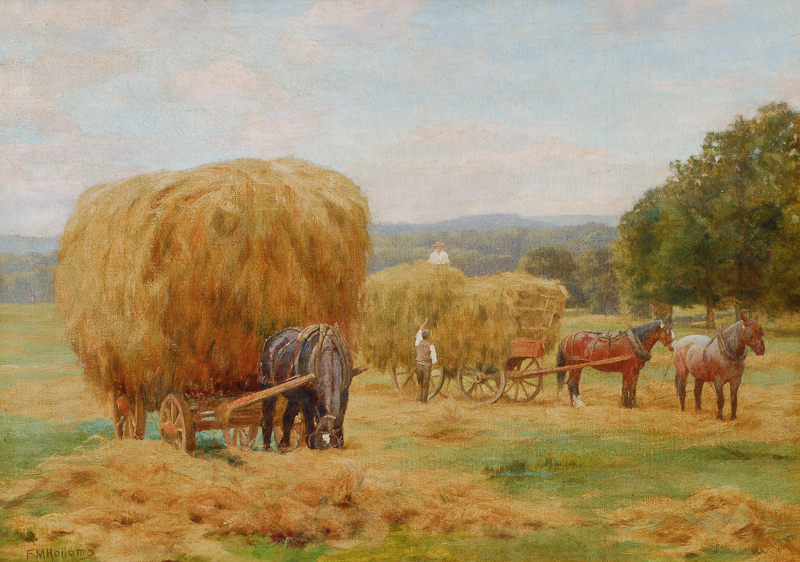 Horses at the Hay Harvest