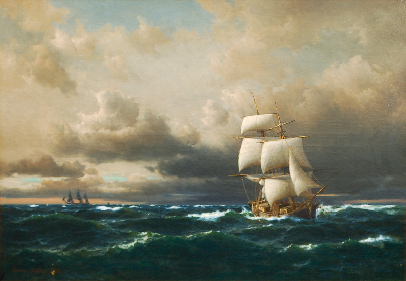 Sailing Ships in Rough Seas