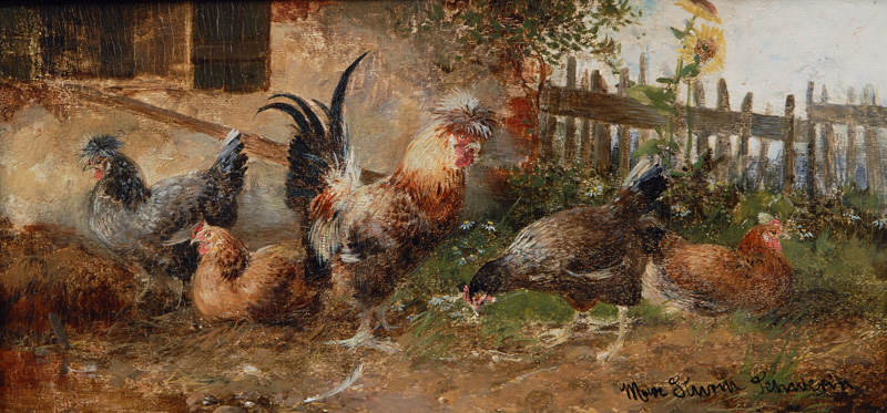 Poultry in the Garden
